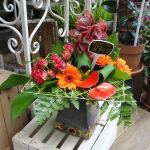 bouquet + vase
